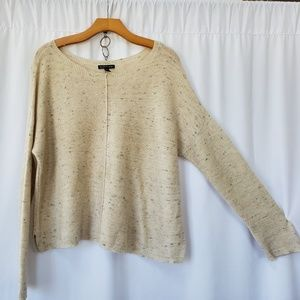 EILEEN FISHER size M cotton wool boxy sweater top
